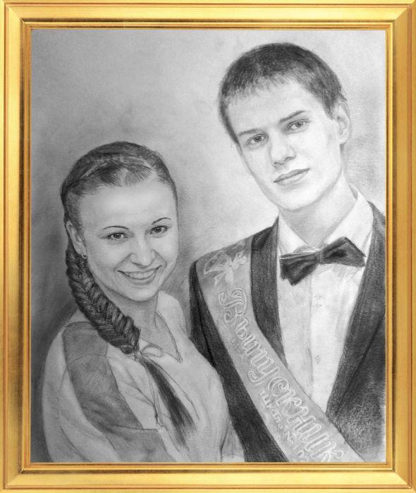 Портрет по фотографии карандашом москва